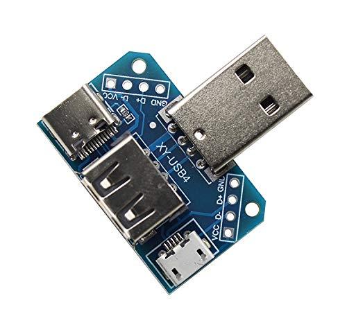 Circuit Breaker Panelen USB Adapter Plaat LDTR-WG0287 4 In 1USB Hoofd Switchboard Mannelijke USB Connector Naar Type-c Micro USB Vrouwelijke USB 2.54-4P Transfer Test Board