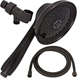 Shower Massager Handheld With Hose - Massage & Mist Hand Held Showerhead Kit - High Pressure Removable Head And Mount - Adjustable Massaging Rainfall Spray, 2.5 GPM - Oil-Rubbed Bronze