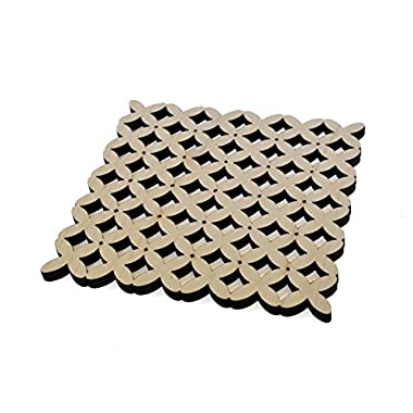 Bare Natural Wood Trivet, Made in USA (Weave (2 pack))