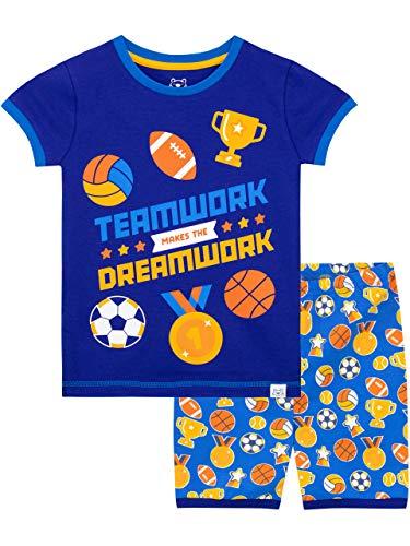Harry Bear Jungen Sport Schlafanzug Kurz Blau 146