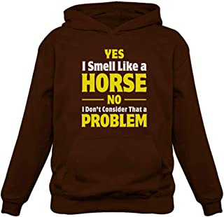 Tstars Smell Like a Horse Funny Gift for Horse Lover Riding Women Hoodie