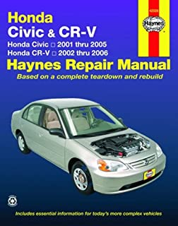Honda Civic 2001-2005, Honda CR-V 2002-2006 (Haynes Repair Manual)