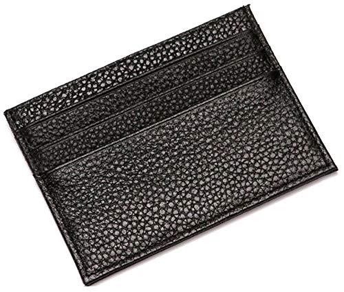 カードケース 極薄 ミニウォレット 本革 レザー 財布 メンズ 男性 カード入れ 薄い 薄型 小さい コンパクト 小型 シンプル 25g クレジットカード6枚対応 ブラック