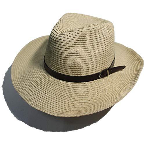 TOORY mural Sombrero para El Sol Sombrero De Vaquero Plegable para Hombres De Verano Sombrero para El Sol Al Aire Libre Sombrero para El Sol Sombrero De Playa Sombrero De Paja De ala Grande-Beige