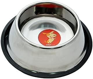 Stainless Steel Spaniel Dog Bowl Non Slip Base Feeding Dish for Long Eared Pets