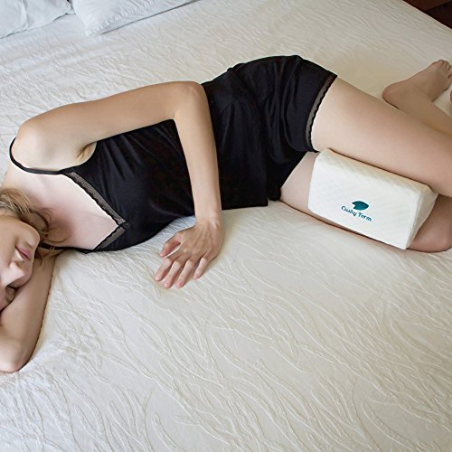 Cushy Form Knee Pillow for Side Sleepers - Sciatic Nerve Pain Relief Leg Pillow - Best for Sciatica,...