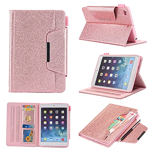 YYLKKB For iPad Mini 4 Case 7.9 inch Cover For iPad Mini 5 Casee Glitter Shell Fundas Caqa Tablet Case-Rose Gold_For IPad Mini 54321