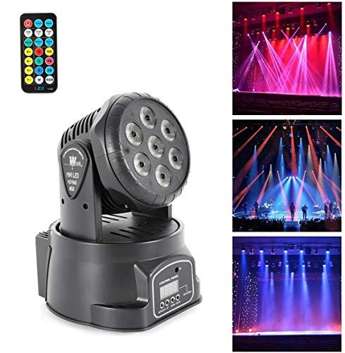 Generic 105W RGBW Moving Head Bühnenlicht LED DMX512 Bühnenbeleuchtung Fernbedienung DJ Disco Party Stage Lighting