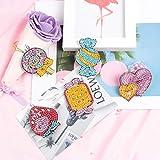 JYKFJ 5 Piezas 5D DIY llaveros de Diamantes de imitación Forma de Caramelo Colorido Diamante Cristal Llavero Bolsa Forma llaveros para Mujeres niñas Bolso Monedero Colgante Regalo