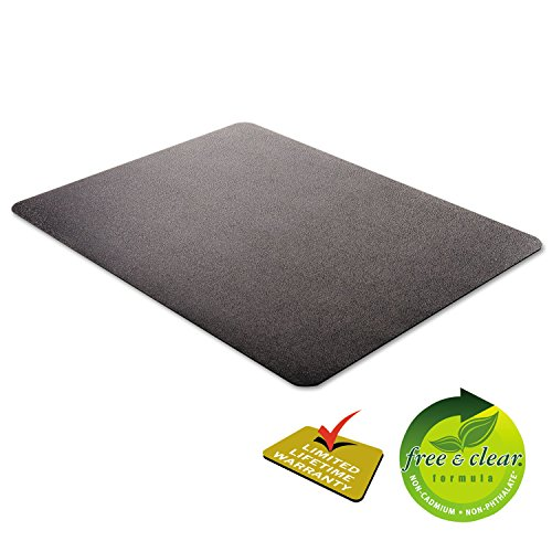 deflecto CM21242BLK EconoMat Anytime Use Chair Mat for Hard Floor 45 x 53 Black Photo #8