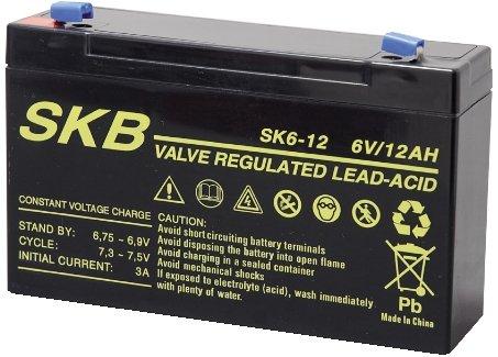 GBC, Batteria Piombo Skb 6V/12Ah Faston 4,8 per PegPerego