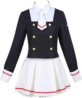 Anime Cosplay Card Captor Sakura Cos Japanese Uniform Daily Woman Girls Kinomoto Sakura Cosplay Costume Top+Skirt+tie+Socks