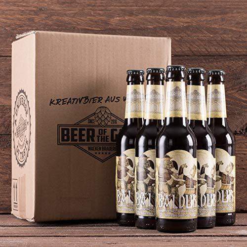 WACKEN BRAUEREI Märzen Craft Beer Box 6 x 0,33 l Flasche | BALDUR | Viking Craftbeer Set Gift for Men | Wikinger Kraft Bier Geschenk für Männer | Party Festival Heavy Metal