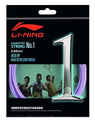 Li Ning 10 m Badminton Schläger-Saite No. 1 Hell Violett