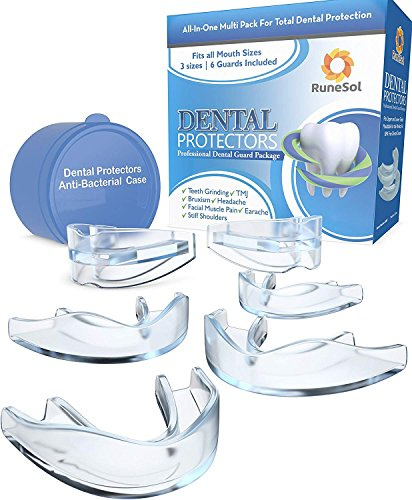 Mouth Guard x6 for Grinding Teeth, RuneSol Bruxism Night Guard TMJ Tooth...