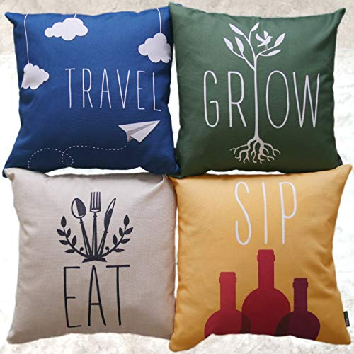 brighaus throw pillow covers set of 4