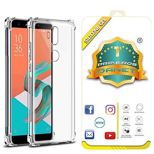 Kit Capa E Película Para Asus Zenfone 5 Selfie E Selfie Pro Zc600kl Capinha Transparente Air Anti Impacto E Película De Gel Silicone Flexível - Danet