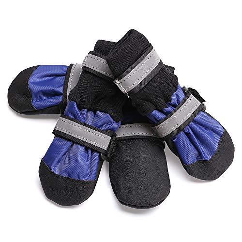 TFENG Bottes pour Chien Protecteur de Patte Stop Léchage Protection des blessures Chaussures pour Chiens antidérapantes