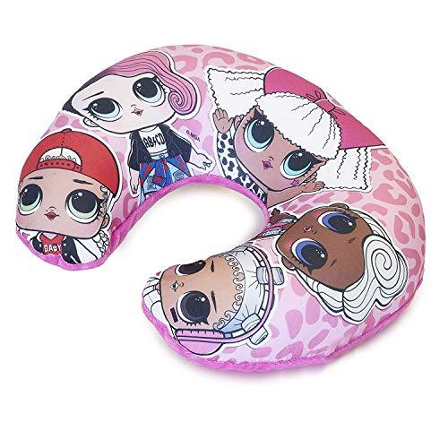L.O.L. Surprise ! Kinder Reisekissen | LOL Puppen-nackenkissen Für Flugzeug | Super Weich Und Bequem | Kopf- Und Nackenstütze Für Kinder | Offizielles LOL Geschenk Für Mädchen (Rosa)