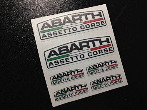 Ecoshirt G2-4QY6-AVKJ Pegatinas Abarth Asseto Corse Eco39 Fiat 500 Stickers Aufkleber Autocollants Adesivi