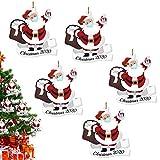 Sarple 5PCS Decoraciones navideñas Adornos de Papá Noel Colgantes de árbol de Navidad Colgantes de Navidad de Papá Noel para la Fiesta de Navidad