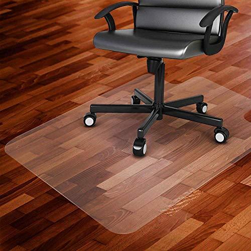 SINKITA Vinyl vloerbeschermingsmat voor harde vloeren, extra transparant en antislip, optimaal glijgedrag voor wieltjes onder stoelen, onderlegmat voor parket, laminaat, PVC-vloeren
