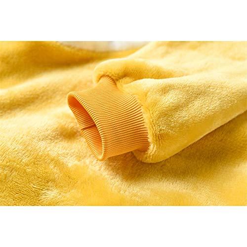 AYJMA Unisex Onesie Shiba Inu Kigurumis Pijamas de Perro Amarillo con Sllippers Ropa de hogar Mono de Franela cálida de Invierno S Onesie