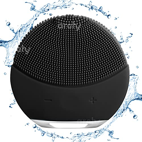 Archy Facial Cleansing Brush, Anti-Aging, Portable, Water-Resistant and Rechargeable (EN-720P)(Black)
