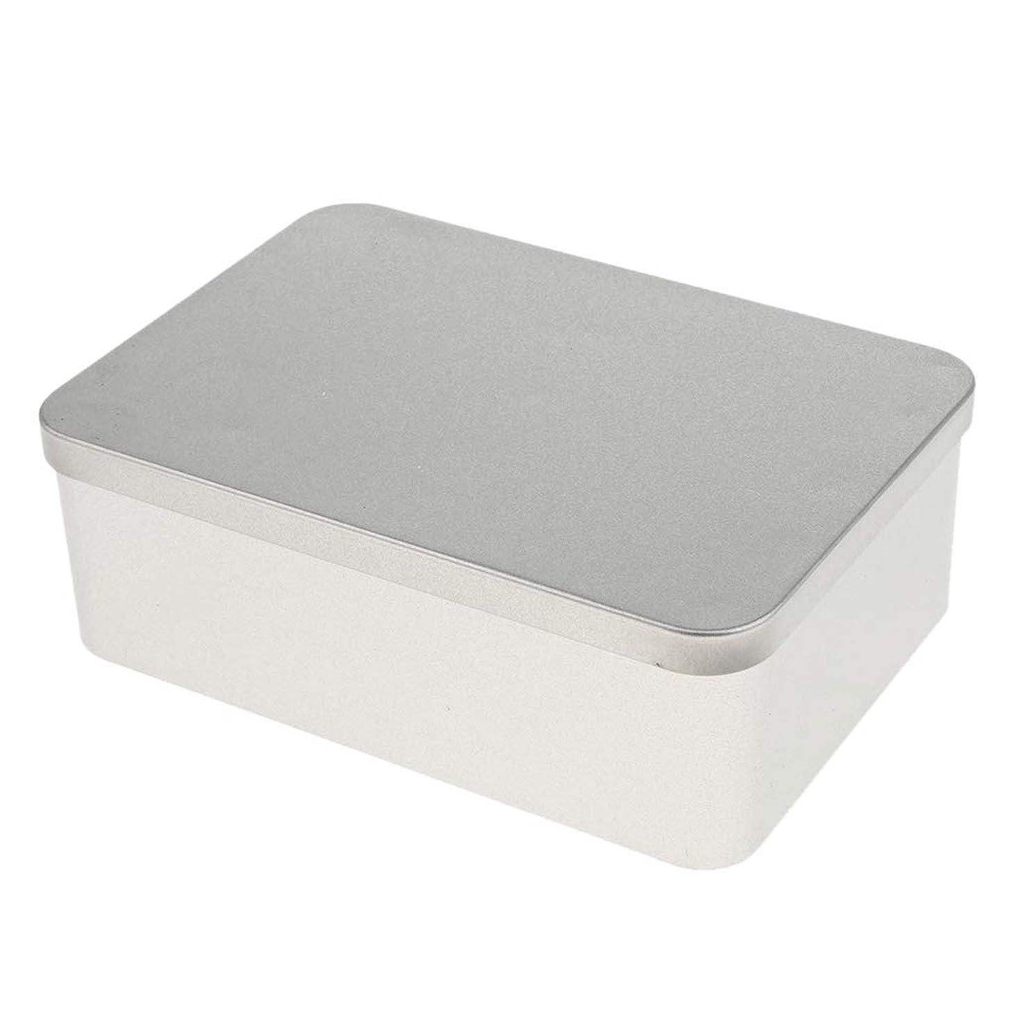 郵便物赤道いらいらさせるperfk 空缶 長方形 収納容器 高品質 小物入り 2サイズ選べ - 16 x 11 x 5.4 cm