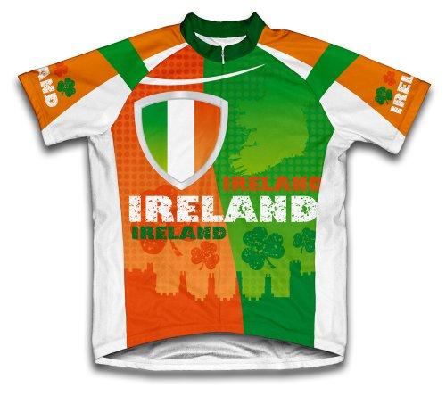 ScudoPro Ireland Maillot Cycliste à Manches Courtes pour Hommes -