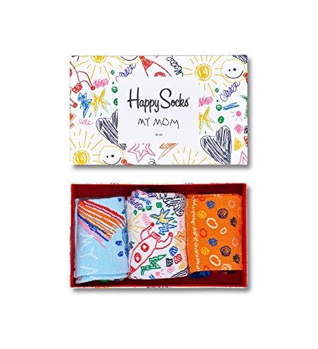 Happy Socks Happy Socks Gemischt farbenfrohe Geschenkbox an Baumwollsocken für Männer und Frauen,I Love You Mom Socks Gift Box,36-40