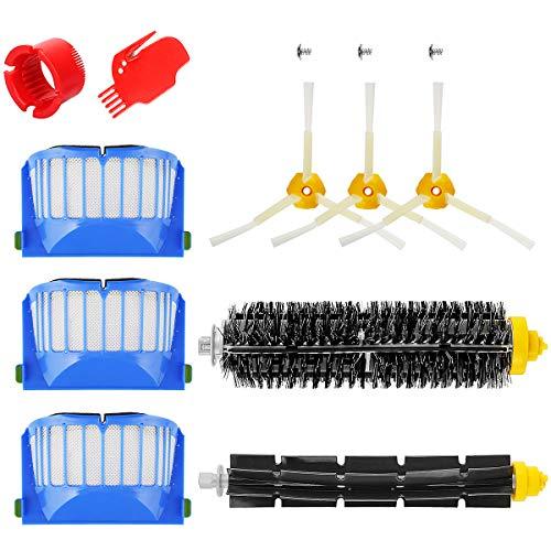 Energup Lot de 10 pièces de rechange pour Roomba 600 Serie Kit d'entretien pour 650 620 651 621 615 616 605