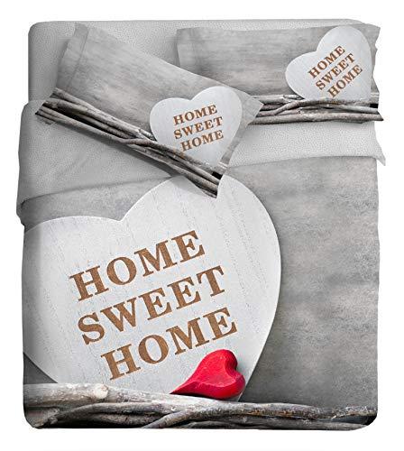 Juego de Funda nórdica fotográfica para Cama de 2 plazas, diseño Sweet Home