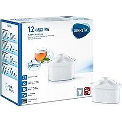 Brita Filterkartuschen MAXTRA + , Weiß, 12er Pack