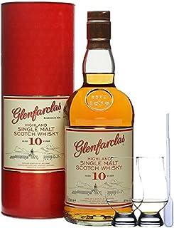 Glenfarclas 10 Jahre Single Malt Whisky 0,7 Liter  2 Glencairn Gläser und Einwegpipette
