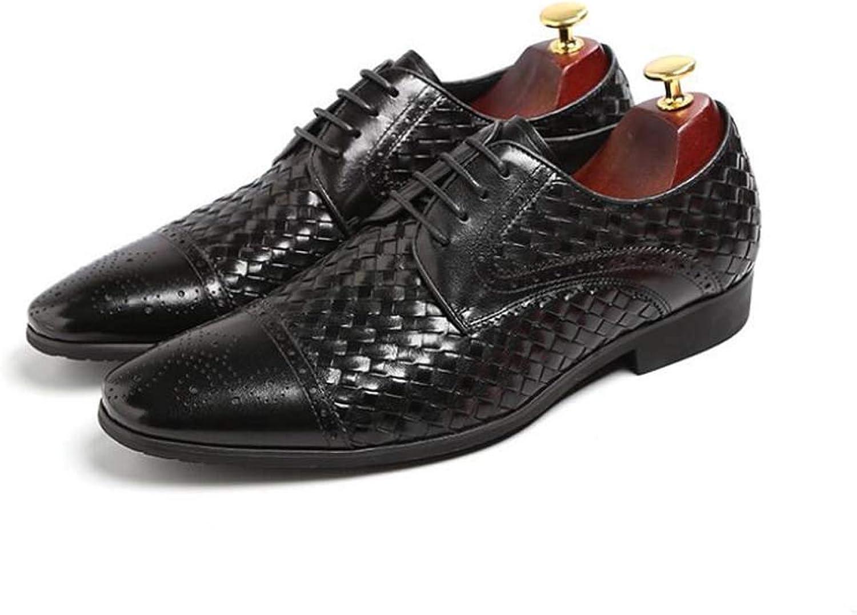 MSSugar Herren Oxfords Business Kleid Kleid Schuhe Herren Schnürschuhe Hochzeitsschuhe Abendschuhe Spitzkopf Freizeitschuhe  Kommen Sie und wählen Sie Ihren eigenen Sportstil