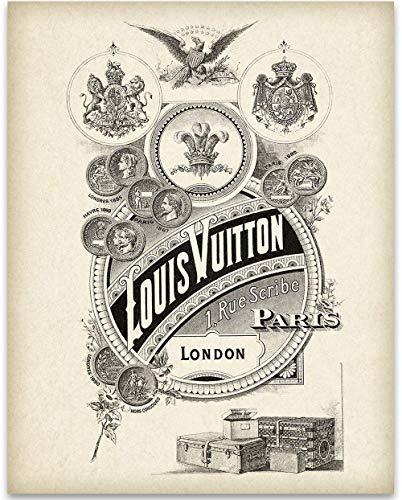 Louis Vuitton Vertical Logo - 11x14 Unframed Art Print - Great Home and Bathroom Decor Under $15