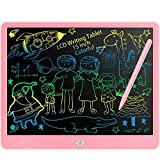 Fverey LCD Writing Tablet, 15 Inch Colorful Doodle Board,Drawing Tablet Educational Toys for Boys and Girls,Electronic Drawing Pad Gift for Kids and Adults Pink