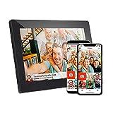 Marco de fotos digital de pantalla táctil de 15.6 pulgadas FHD para compartir instantáneamente fotos y videos a través de aplicaciones, correo electrónico, nube, montaje en pared, retrato y paisaje