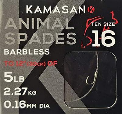Kamasan Animal Fishing Hooks To Nylon Spades Coarse Tackle