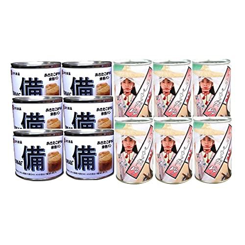こまち食品 あきたこまちの米粉パン 6缶 こまちがゆ 6缶 非常食セット 2種 パン お粥 秋田