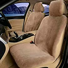 Real Sheepskin Car Seat Cover for Car SUV Auto Front Seats Only Genuine Fur Car Seat Cover Fuzzy Car Seat Cover - Universal (One Piece)