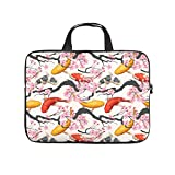 Japón Koi Fish - Funda ligera para portátil con asa de transporte para hombres, mujeres, niños y niñas, White (Blanco) - Zhouwonder670