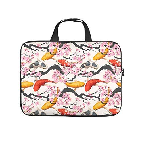 Japan Koi Fish Laptop Bag Waterproof Protective Case for Laptops Notebook Bag for University Work Business