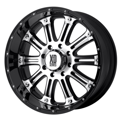 XD Series by KMC Wheels XD795 Hoss Gloss Black Wheel With Machined Face (20x9'/8x165.1mm, +18mm offset)
