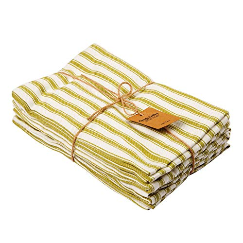 Red and White Stripe Cotton Napkins, 6-Pack