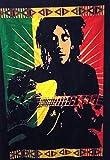 Póster tradicional de Jaipur legendario Bob Marley con guitarra, tapiz indio, decoración de pared hippie, bohemia para colgar en la pared