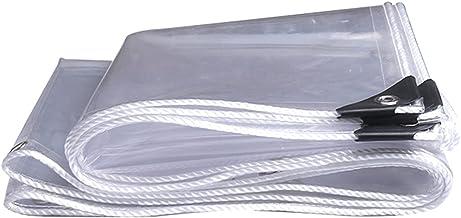 IDWOI schaduw- en regenbestendige zwembadtafelhoes 100% helder zeildoek, 0.55mm PVC opvouwbare universele Tarps, scheurbes...