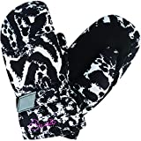 Dare 2b Watch out Mitt Insulated and Waterprooft Girls Winter Ski Guantes, Infantil, Black/White Fusion (Animal Print), Size 4-5