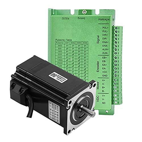 QWERTOUR 60mm * 60mm 3n.m Closed-Loop-Schrittmotor-Kits 24 Schrittmotor und Treiber/Servo-Motor-Kits